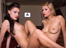 Aletta Alien and Regina Ice