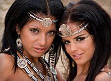 Black Angelica and Kyra Black