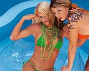 Liliane tiger And Nicoletta blue