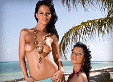 Lucy Belle and Black Angelika