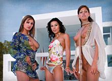 Regina Ice, Vanessa May and Lucky
