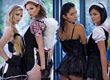 Tarra White, Cayenne Klein, Black Angelika and Lucy Belle