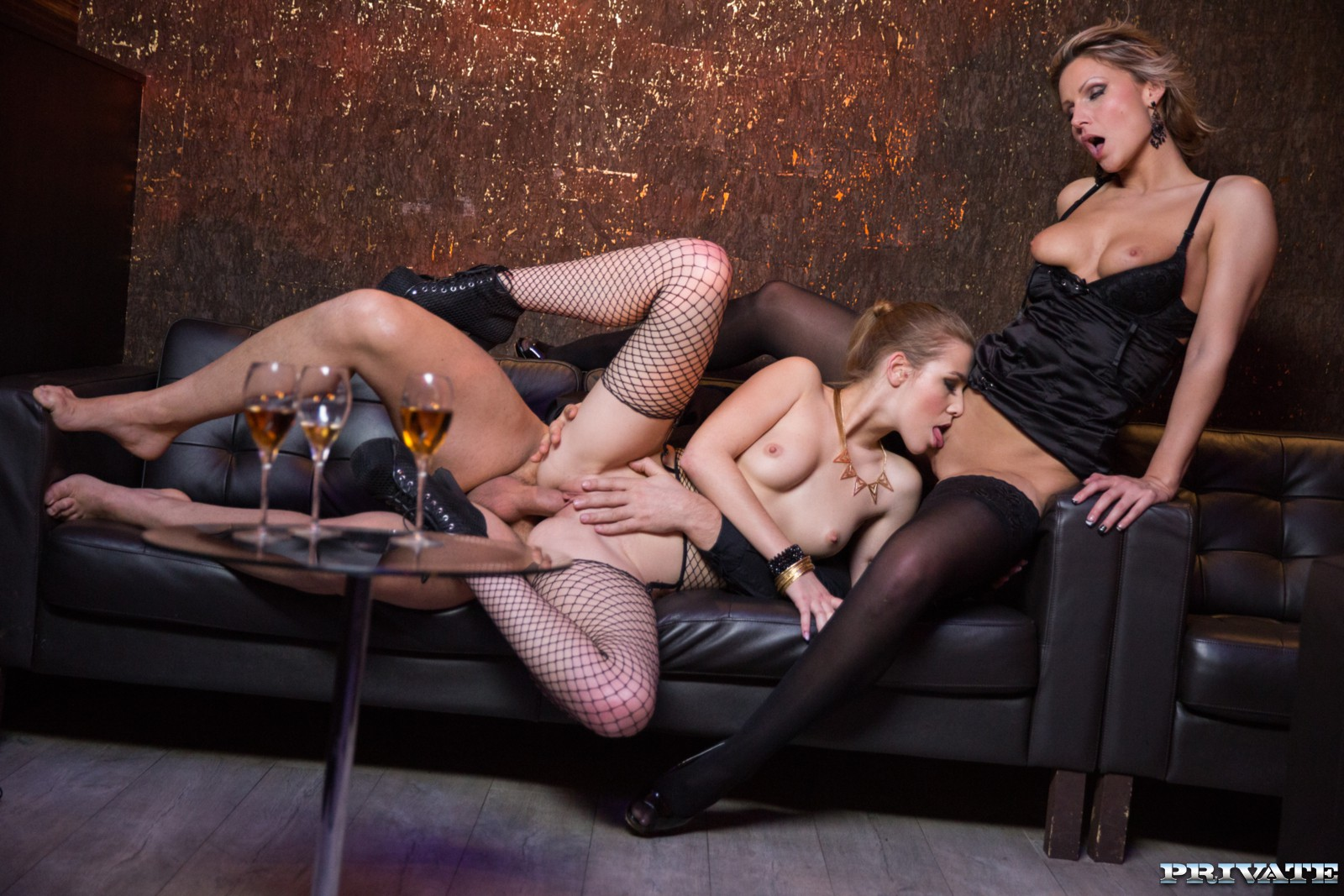 VIP Treatment Given by Alexis and Samantha Is Anal and a Threeway - Private photo
