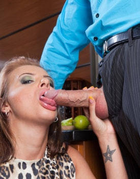 Candy Alexa Has a Cocktail and Cock in Her Tail-6