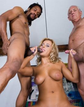 Amanda Enjoys an Interracial Trio-5