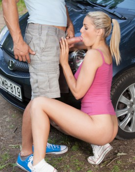 School Girl Christen Courtney Fucks the Sports Teacher In the Woods-3