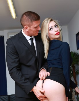 Busty Blonde Milf Chessie Kay Gets Nailed in the Office-3