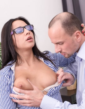 Big Tits Brunette Chanel Lux Enjoys Anal-1