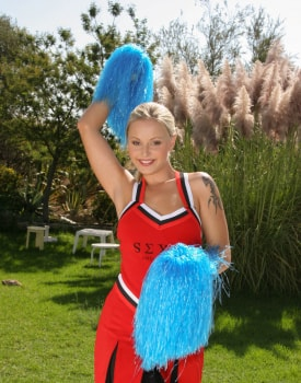 Cheerleader Liliane Tiger Is Fucked in the sun -0