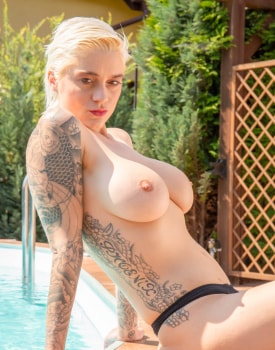 Poolside Orgy for Busty Agents-2