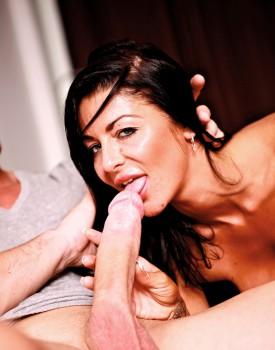 Busty British Milf Tia Layne Gets Sticky Tits-3