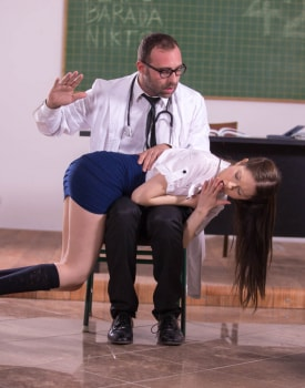 Student Nurse Rebecca Volpetti Is Punished With Hard Anal-2