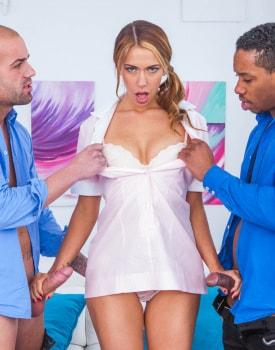 Ani Blackfox takes DP in an interracial threesome-3