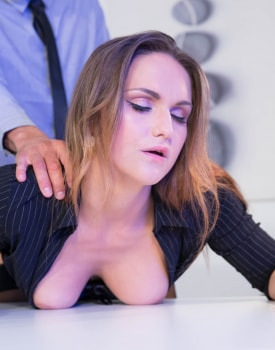 Secretary Barbara Bieber Puts the Squeeze on Her Boss-3