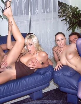 Jessica and Britnee Have a DP Orgy-11
