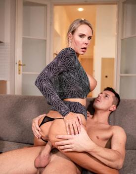 Florane Russell, Horny Cougar Fucks Stepdaughter's Boyfriend-8