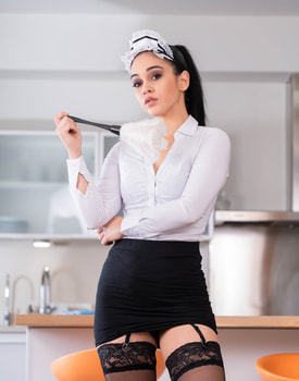 Horny Maid Eager to Impress-0