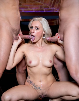 Brittany Bardott, Horny Milf Rides a Threesome with Anal and DP-11