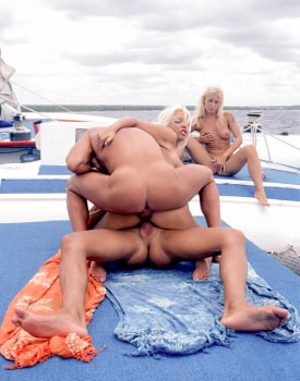 Henriette Blond and Monica Moore Have a DP Orgy at Sea-8