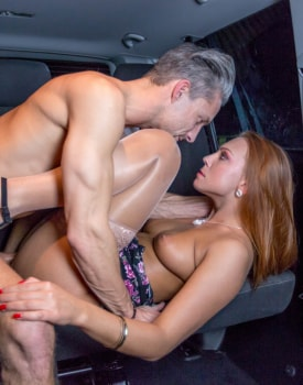 Ornella Morgan makes her debut for Private fucking in the backseat of a taxi-5