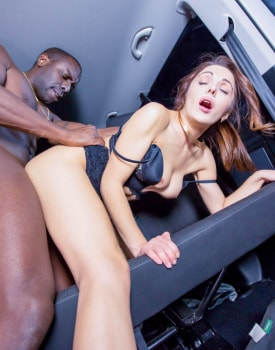 Dominica Phoenix takes interracial anal without leaving the taxi-7