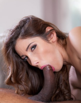 Clea Gaultier finishes swallowing after interracial anal-5