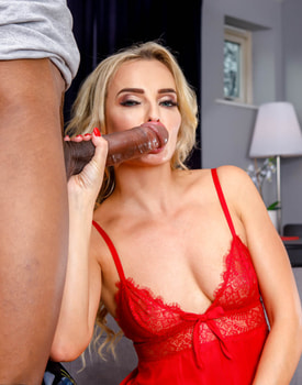 Victoria Pure, Stunning Blonde Enjoys Interracial Anal-3