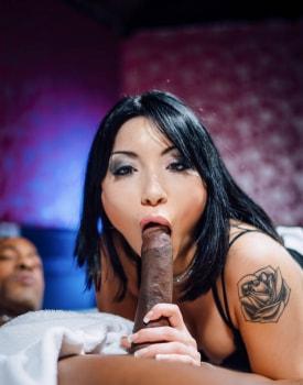 Asian Waitress Rina Ellis Enjoys Interracial Slamming-3