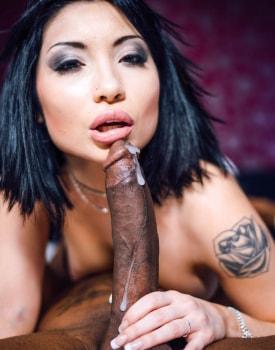 Asian Waitress Rina Ellis Enjoys Interracial Slamming-11