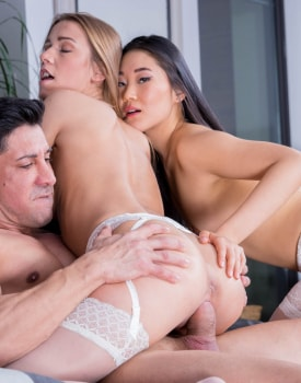 The Asian Katana has a threesome with Alexis Crystal-10