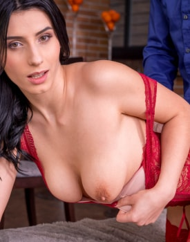 Nelly Kent, brunette addicted to lingerie and anal debuts for Private-6