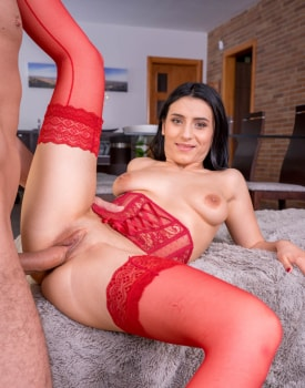 Nelly Kent, brunette addicted to lingerie and anal debuts for Private-10