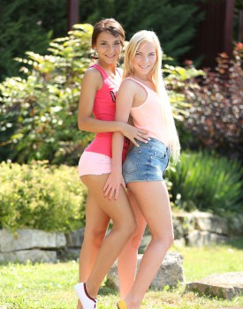 Teen Lesbians Alexis Brill and Angie Koks Don't Disappoint -0