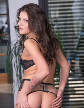 Belle Claire and Verona Sky on Stockings In Hot Trio -0