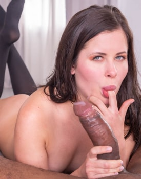 Cassie Fire, wears lingerie for an interracial anal-11