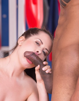 Cassie Fire, after a hot shower with Sienna Day has her first Interracial ride -10
