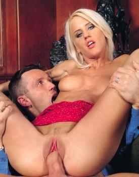 Blonde Babe Cintia Spills Cum on Her Perky Tits -9