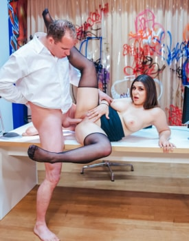 Curvaceous July Johnson debuts as horny receptionist-7
