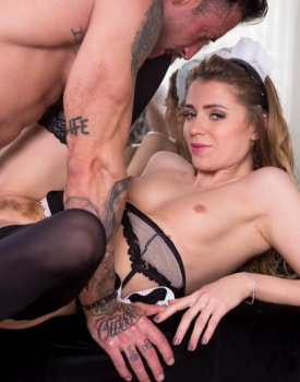 Mary Kalisy, debuts in Private as a Slutty Maid -8