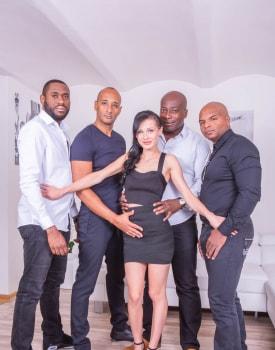 Nicole Love enjoys interracial gangbang-4