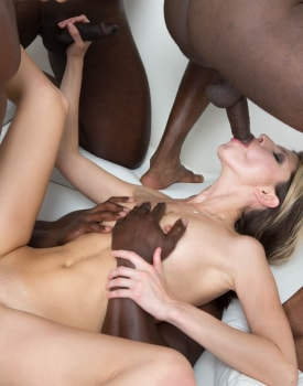 Gina Gerson in hardcore interracial gangbang-7