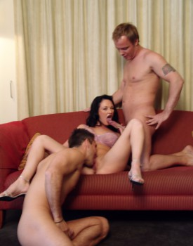 Donna Marie Takes a Massive Facial after Some Hardcore DP Action-1