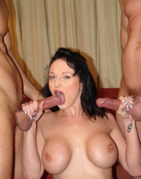 Donna Marie Takes a Massive Facial after Some Hardcore DP Action-10