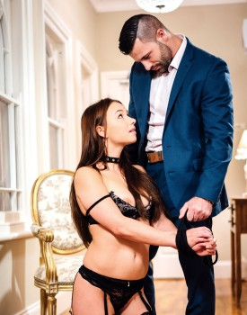 New Star Taylor Sands Fucks in Sexy Black Lingerie -0