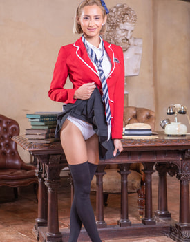 Veronica Leal, Latina Schoolgirl Enjoys Anal and Squirting-0