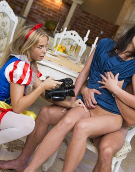 Czech Teens Angella Christin & Niki Sweet Share a Big Dick-3