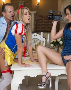 Czech Teens Angella Christin & Niki Sweet Share a Big Dick-4