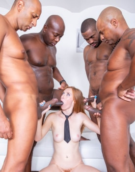 Schoolgirl Linda Sweet Enjoys Double Anal in Interracial Gangbang-4