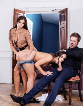Kristy Black debuts in an anal trio with Clea Gaultier-5