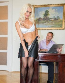 Milf Secretary Dyana Hot Fucks Her Boss in the Office-2